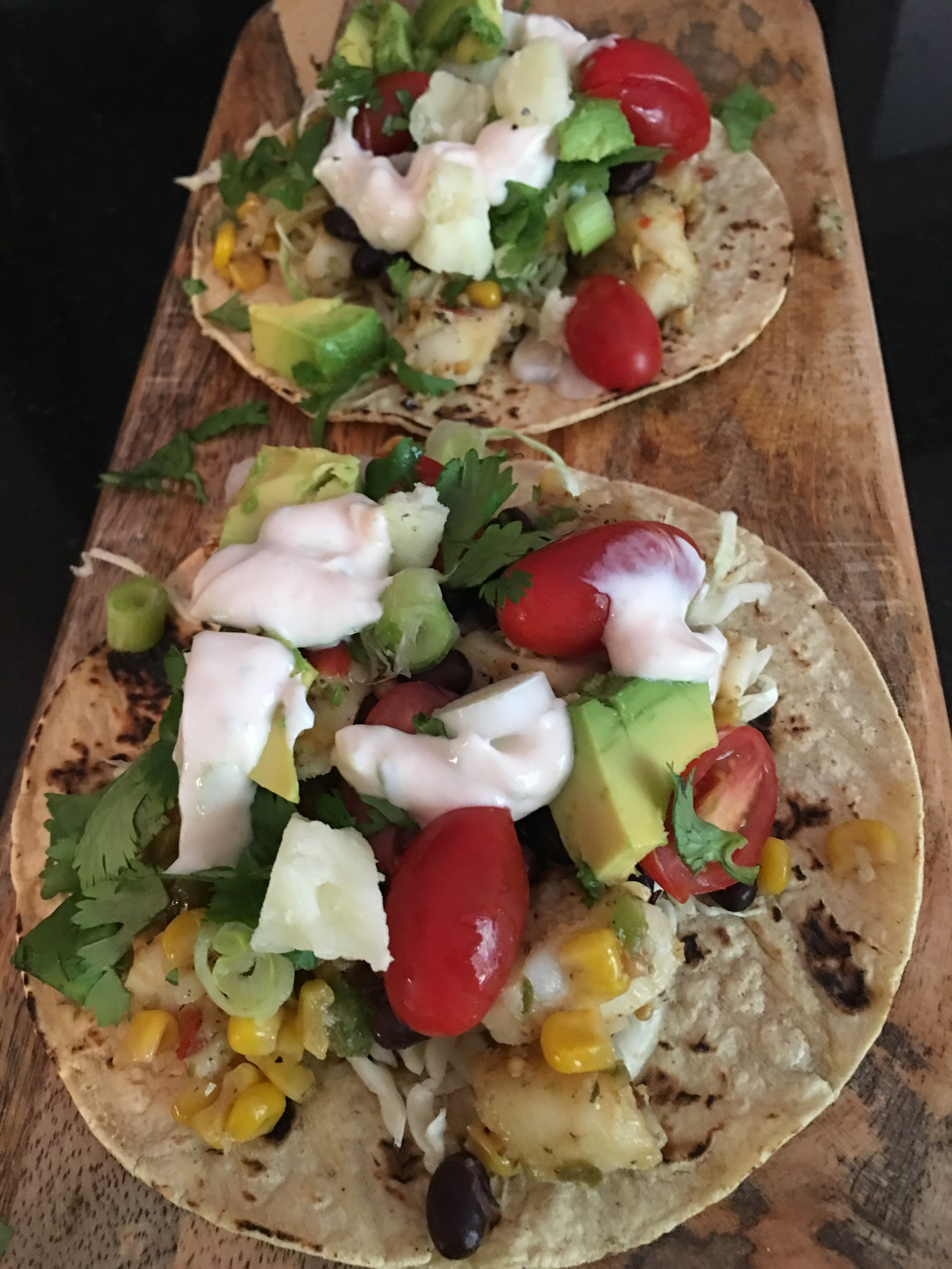 Fish tacos with corn salsa sunshine and savory for Side dishes for fish tacos