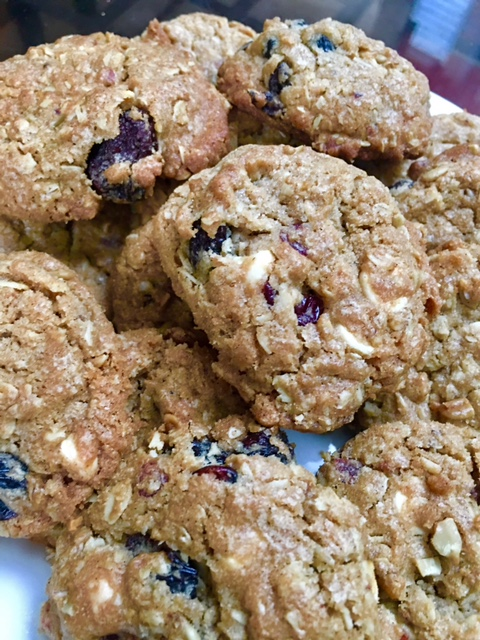 Oatmeal Cookies With Dried Fruit White Chocolate Chips And
