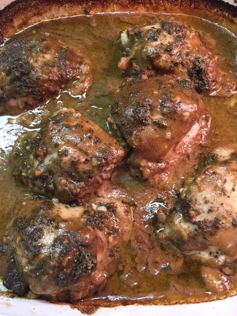 Chicken Thighs in a Balsamic Mustard SageMarinade