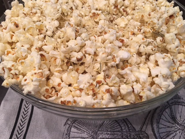 Parmesan Popcorn with RosemaryButter