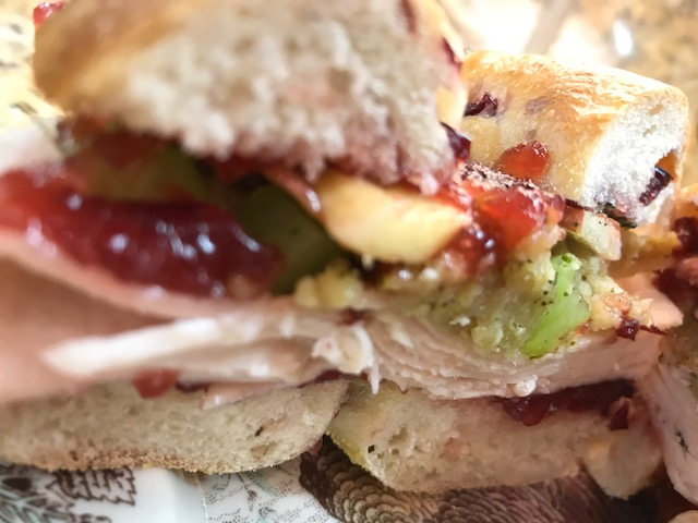 Turkey, Cranberry and Stuffing Bagel Sandwich